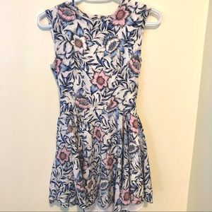 H&M pastel floral fit and flare dress size 6